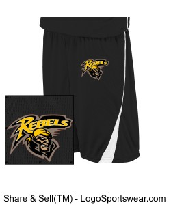 Black/White Reversible Game Shorts (9 Inch) Design Zoom